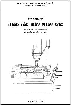 Thao tác máy phay CNC