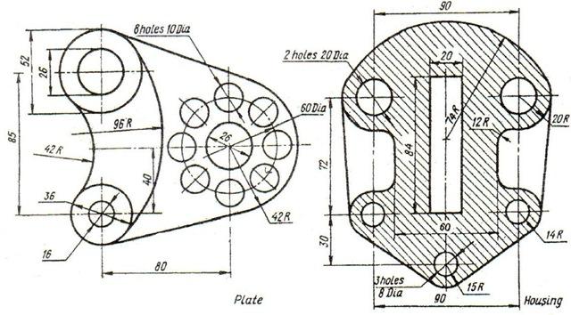B i t p th c h nh autocad 2d tinh hoa c ng ngh for Cad blueprints